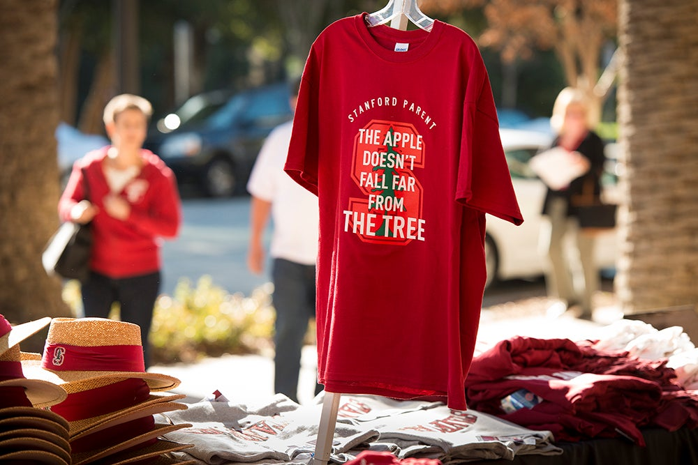 A parent t-shirt displayed during Parents' Weekend.