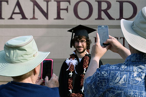 Graduate being photographed